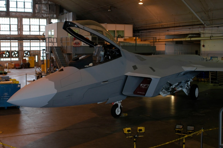 DAYTON, Ohio (10/2007) -- F-22A Raptor in the National Museum of the U.S. Air Force's restoration hangar. (U.S. Air Force photo)