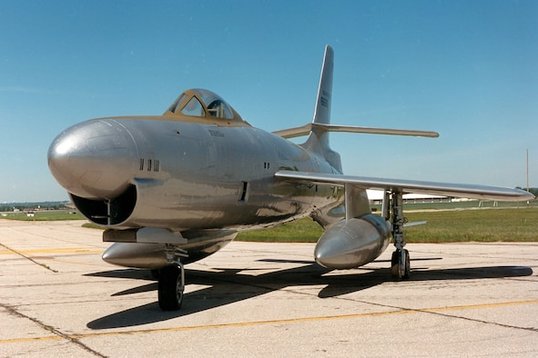 DAYTON, Ohio -- Republic XF-91 at the National Museum of the United States Air Force. (U.S. Air Force photo)