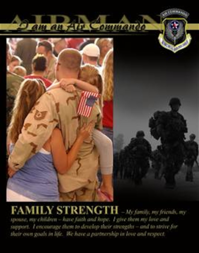 I am an Air Commando - I encourage my family and friends to develop their strengths.