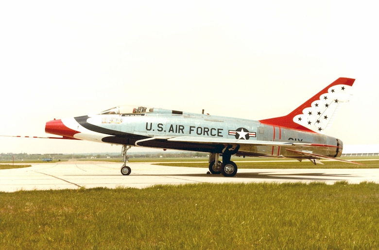 DAYTON, Ohio -- North American F-100D Super Sabre at the National Museum of the United States Air Force. (U.S. Air Force photo)