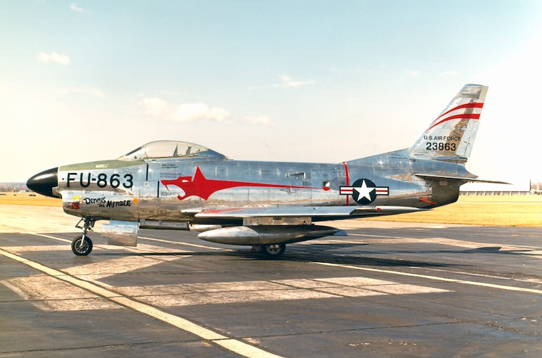 DAYTON, Ohio -- North American F-86D Sabre at the National Museum of the United States Air Force. (U.S. Air Force photo)