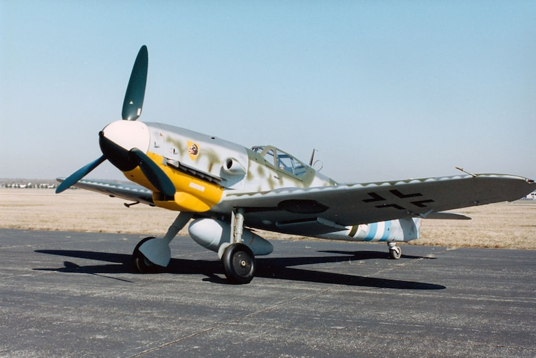 DAYTON, Ohio -- Messerschmitt Bf 109G-10 at the National Museum of the United States Air Force. (U.S. Air Force photo)