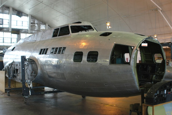 "DAYTON, Ohio (10/2007) -- The B-17F ""Memphis Belle"" in restoration at the National Museum of the U.S. Air Force. (U.S. Air Force photo)"
