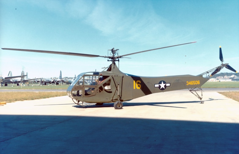 DAYTON, Ohio - Sikorsky R-4B at the National Museum of the U.S. Air Force. (U.S. Air Force photo)