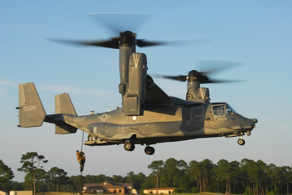 8th Special Operations Squadron CV-22 pick up. (Courtesy photo)