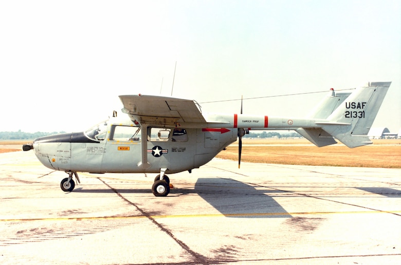 DAYTON, Ohio -- Cessna O-2A Skymaster at the National Museum of the United States Air Force. (U.S. Air Force photo)
