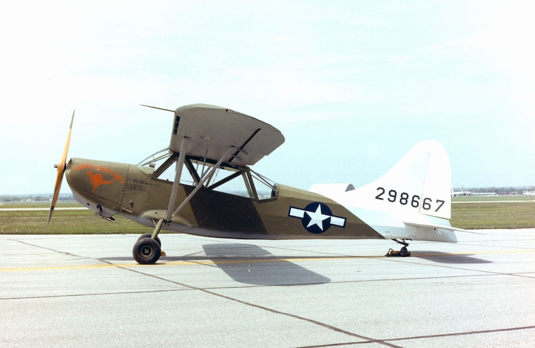 DAYTON, Ohio -- Stinson L-5 Sentinel at the National Museum of the United States Air Force. (U.S. Air Force photo)