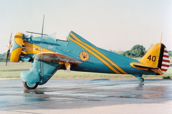 DAYTON, Ohio -- Boeing P-26A at the National Museum of the United States Air Force. (U.S. Air Force photo)