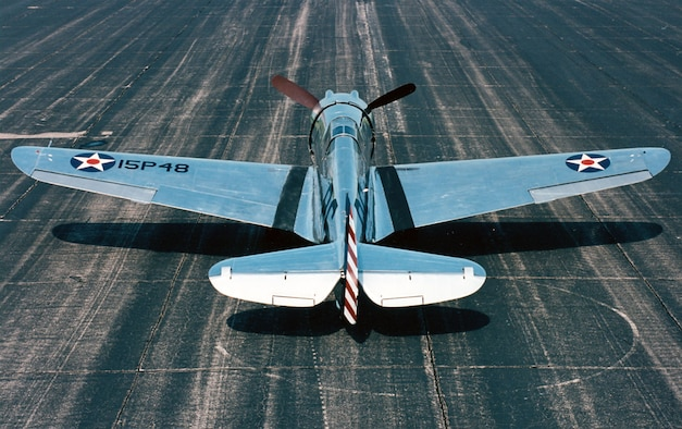 DAYTON, Ohio -- Curtiss P-36A Hawk at the National Museum of the United States Air Force. (U.S. Air Force photo)