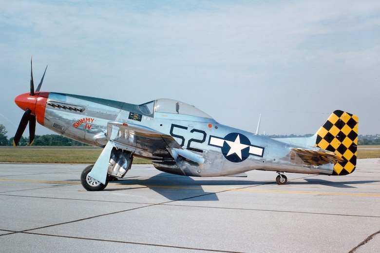 DAYTON, Ohio -- North American P-51D Mustang at the National Museum of the United States Air Force. (U.S. Air Force photo