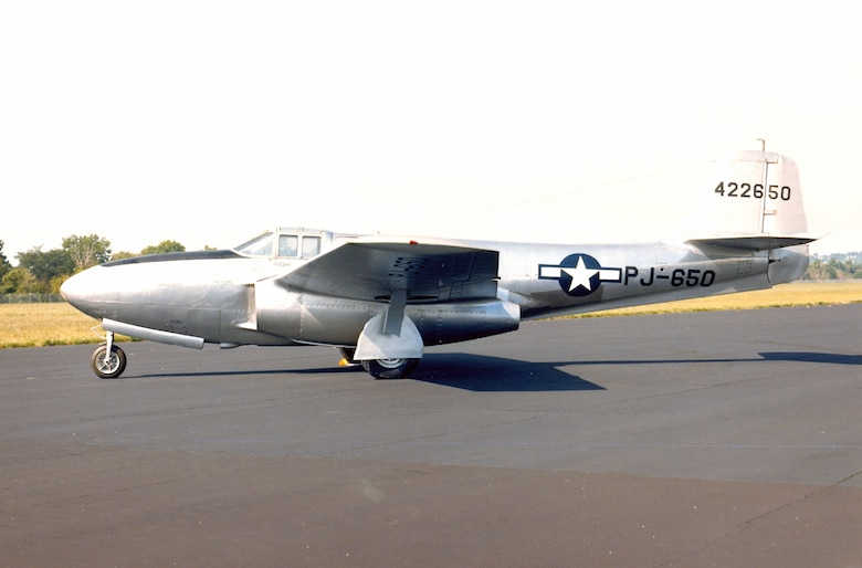 DAYTON, Ohio -- Bell P-59B Airacomet at the National Museum of the United States Air Force. (U.S. Air Force photo)