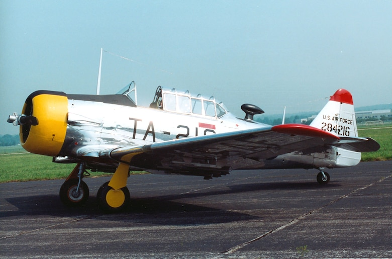 "DAYTON, Ohio -- North American T-6D ""Mosquito"" at the National Museum of the United States Air Force. (U.S. Air Force photo)"