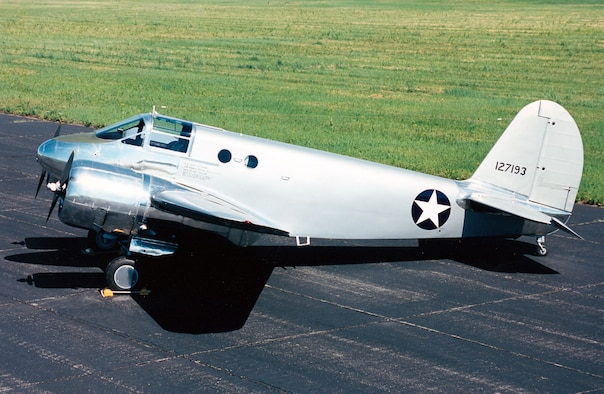 DAYTON, Ohio -- Beech AT-10 Wichita at the National Museum of the United States Air Force. (U.S. Air Force photo)