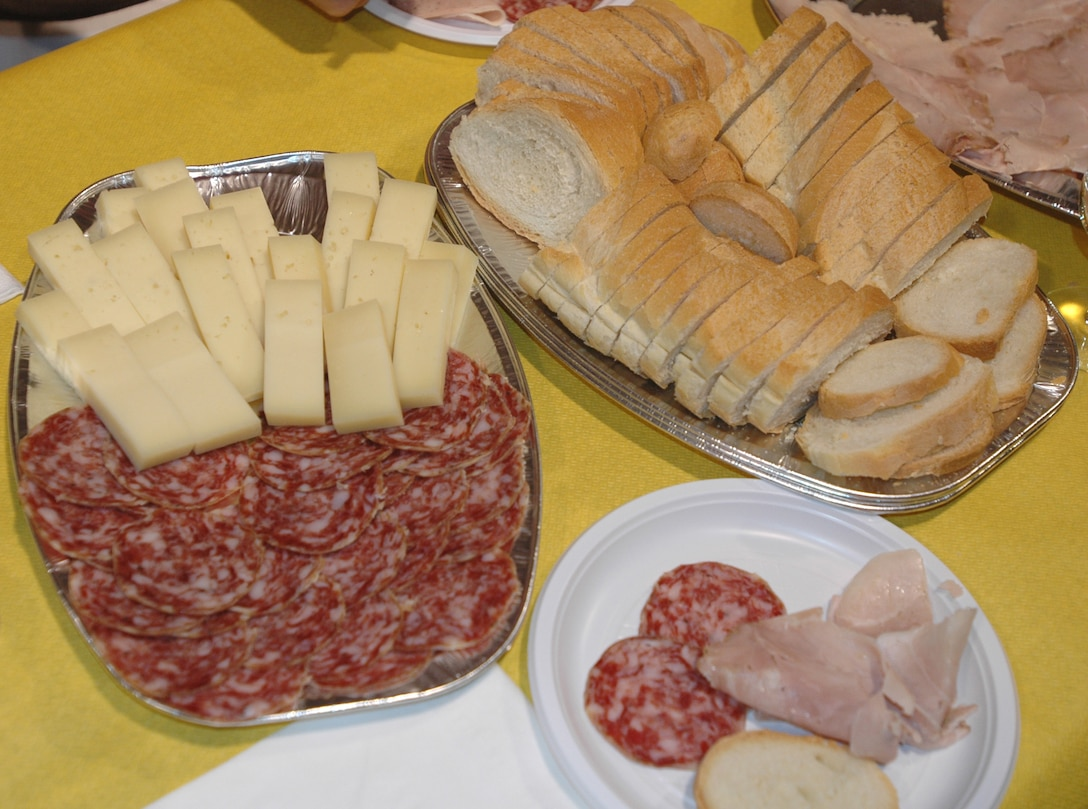 AVIANO AIR BASE, Italy--Italian meat, cheese and bread was served along with four different types of wine from a local winery in San Quirino Oct. 19. (U.S. Air Force photo/Senior Airman Justin Weaver).