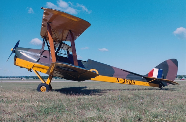 DAYTON, Ohio -- De Havilland DH 82A Tiger Moth at the National Museum of the United States Air Force. (U.S. Air Force photo)