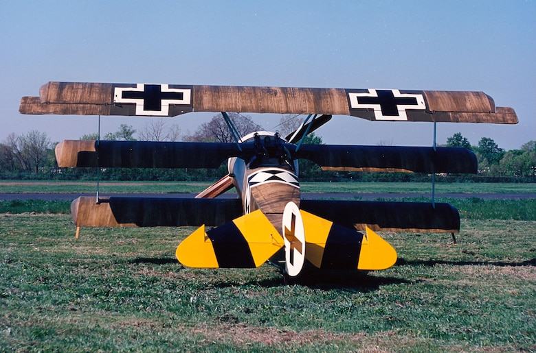 DAYTON, Ohio -- Fokker Dr. I at the National Museum of the United States Air Force. (U.S. Air Force photo)