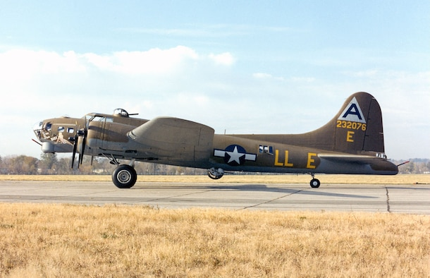 """DAYTON, Ohio -- Boeing B-17G Flying Fortress """"Shoo Shoo Shoo Baby"""" at the National Museum of the United States Air Force. (U.S. Air Force photo)"""
