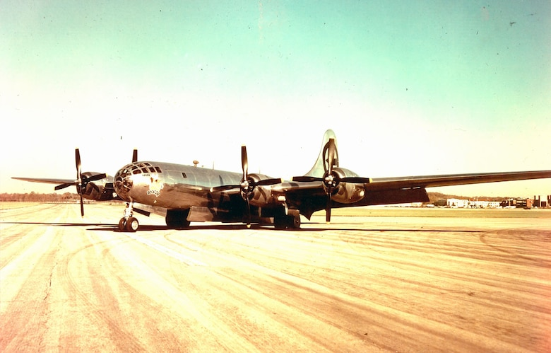 "DAYTON, Ohio -- Boeing B-29 Superfortress ""Bockscar"" at the National Museum of the United States Air Force. (U.S. Air Force photo)"