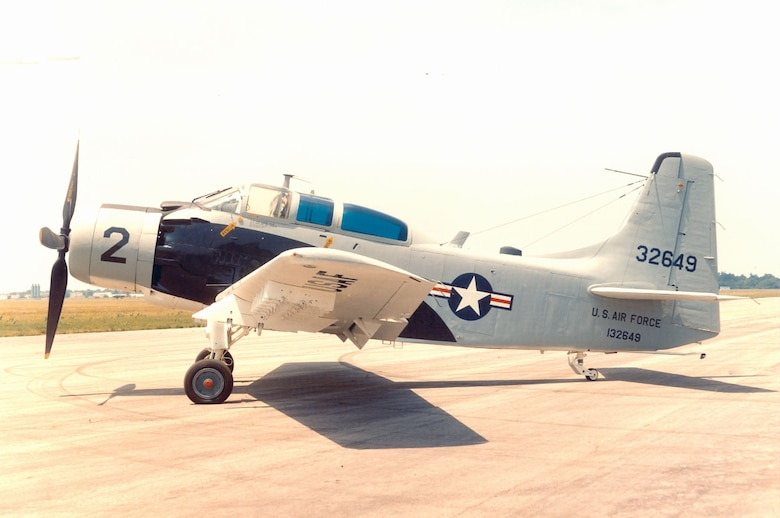 DAYTON, Ohio -- Douglas A-1E Skyraider at the National Museum of the United States Air Force. (U.S. Air Force photo)