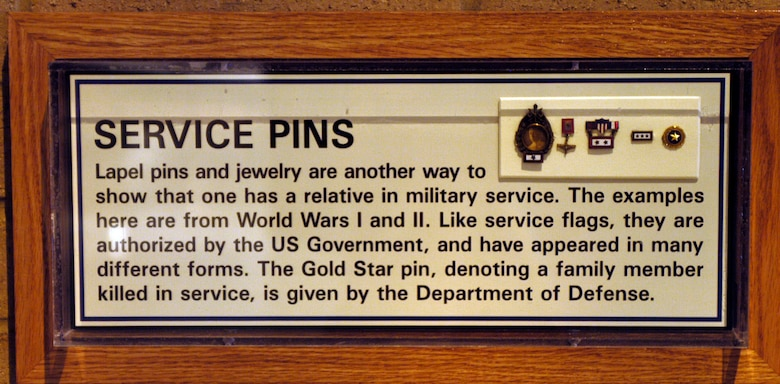 DAYTON, Ohio - Service pins on display at the National Museum of the U.S. Air Force. (U.S. Air Force photo)
