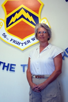 Retired Chief Master Sgt. Eileen Berning retired in 2005 after serving 29 years in the Air Force. (photo by Senior Airman Tong Duong)