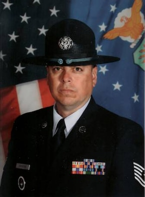 Tech. Sgt. Hugo Gamarra, a military training instructor with the Air Force Reserve's 433rd Airlift Wing at Lackland AFB, Texas, was chosen as the Military Training Instructor of the Year, Reservist category, for 2007. (U.S. Air Force Courtesy Photo)