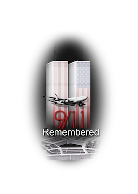 The seventh anniversary of the Sept. 11 terrorist attacks is Thursday and a memorial service will be held at 1:45 p.m. at the Sept. 11 Memorial Park outside the Bob Hope Community Center. All Team Mildenhall personnel and their families are invited to attend the service and pay their respects to the victims and families of those who lost their lives in New York City, Washington D.C., and Flight 93 in Pennsylvania. The chaplain will begin the ceremony with an invocation, and a member of wing leadership will be guest speaker. For more information, call Master Sgt. William Hayes at DSN 238-6614. (U.S. Air Force graphic by Tech. Sgt. Brian Bahret)