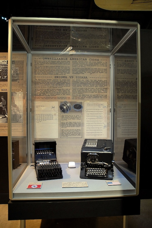 DAYTON, Ohio -- Cryptology exhibit on display in the World War II Gallery at the National Museum of the United States Air Force. (U.S. Air Force photo)