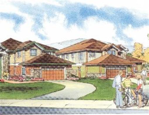 An artist's rendition of future Peterson housing.