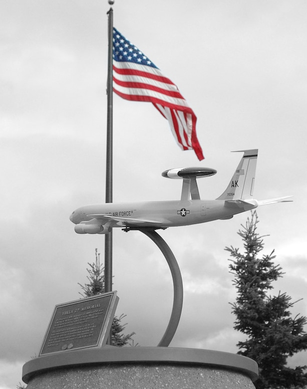 Elmendorf Air Force Base honors the crew of Yukla 27 with a memorial in front of the 3rd Wing Headquarters building.