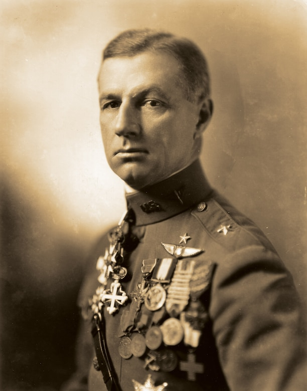 """""""A squadron commander who sits in his tent and gives orders and does not fly, though he may have the brains of Solomon, will never get the results that a man will, who, day in and day out, leads his patrols over the line and infuses into his pilots the 'espirit de corps.'"""" Brig. Gen. William """"Billy"""" Mitchell, Assistant Chief, U.S. Army Air Service"""