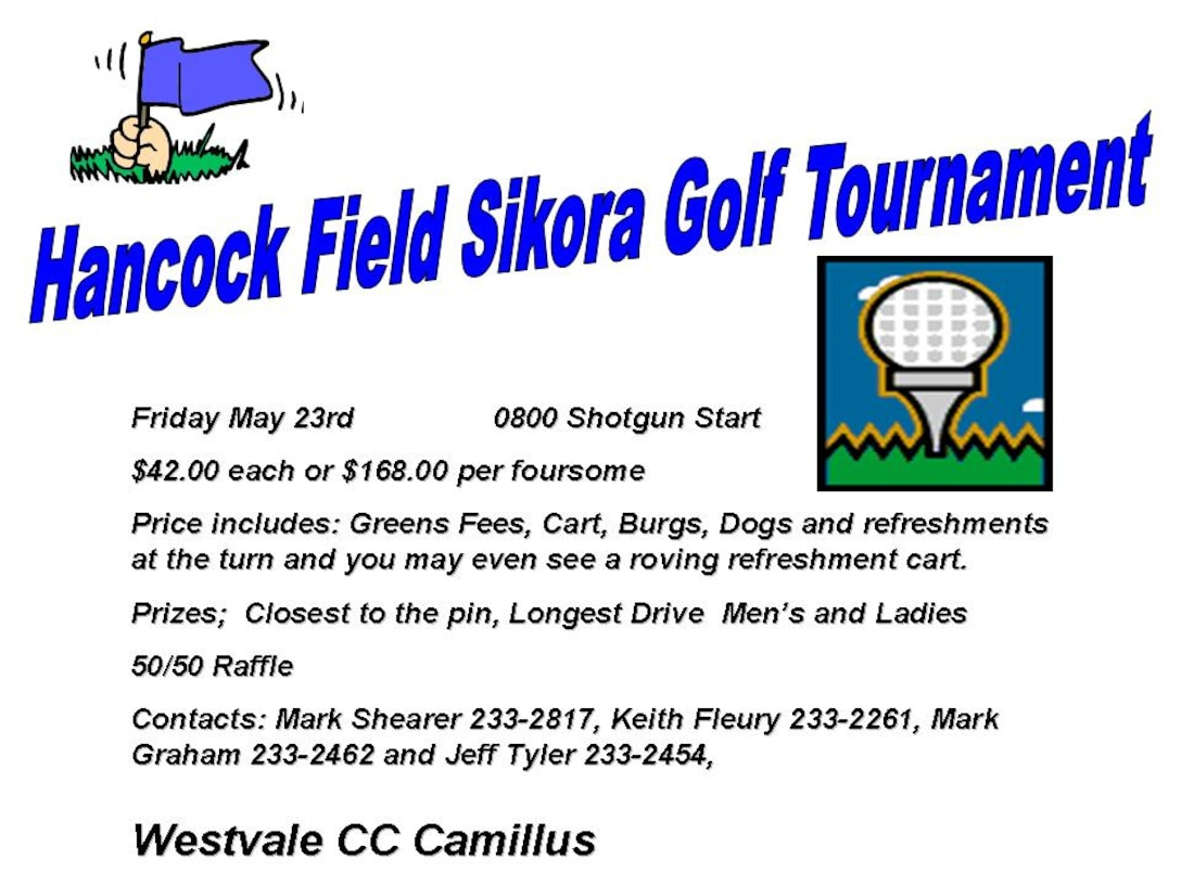 add for 174fw golf tournement