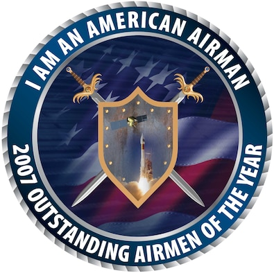 Shield for the Air Force Space Command 2007 Outstanding Airmen of the Year ceremonies.