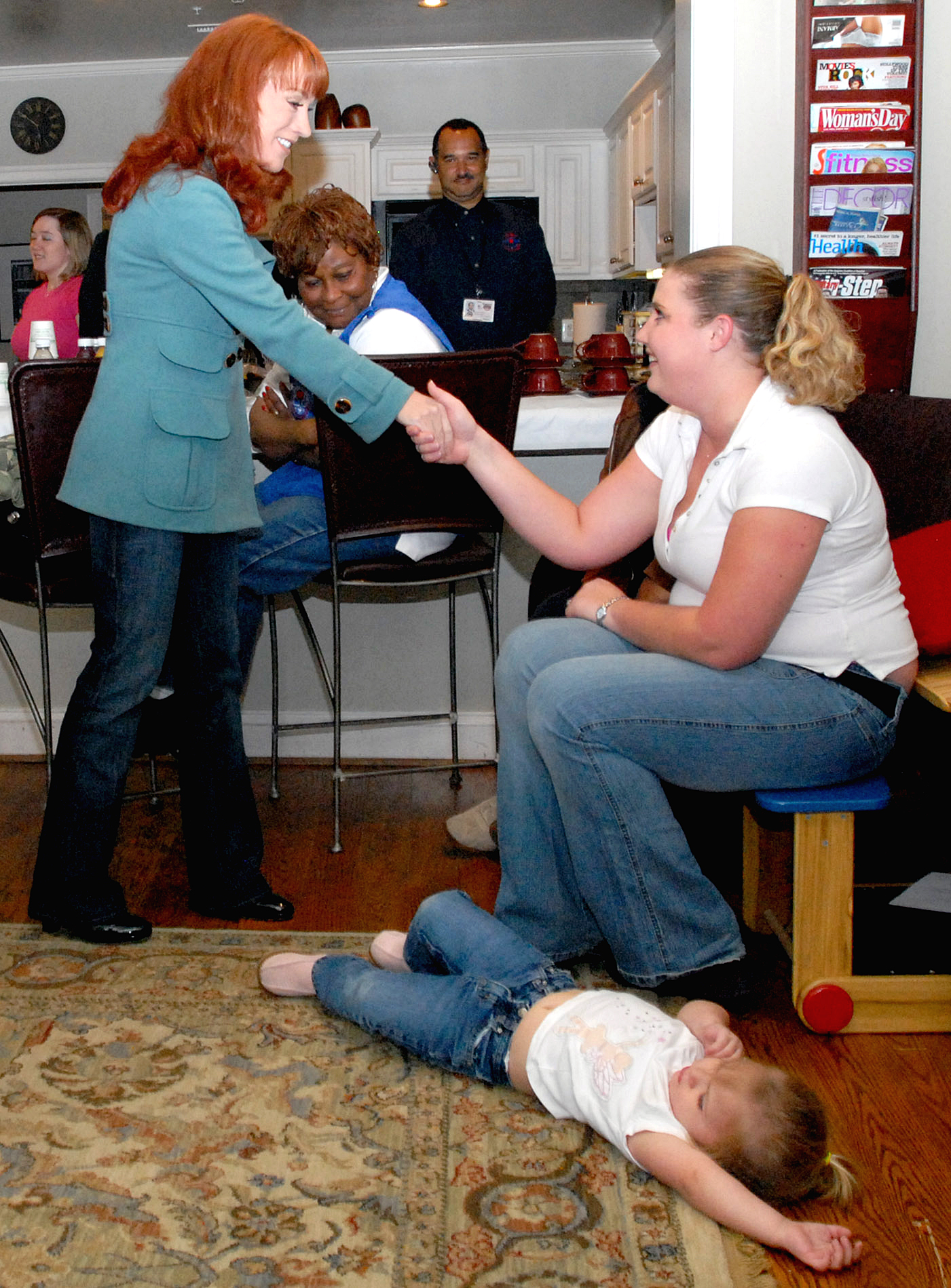 Comedienne Kathy Griffin Greets Susan Badia At Walter Reed Army Medical Center S Fisher House Iii April