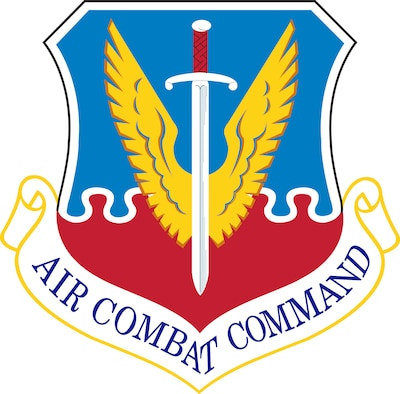 Air Combat Command (ACC) Shield (Color), U.S. Air Force graphic. In accordance with Chapter 3 of AFI 84-105, commercial reproduction of this emblem is NOT permitted without the permission of the proponent organizational/unit commander.