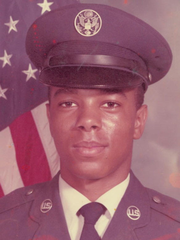 Chief Master Sgt. Terry Reed, Air Force Personnel Center Command Chief, as he looked in July 1978 during Air Force Basic Training at Lackland Air Force Base, Texas. (U.S. Air Force photos/File)