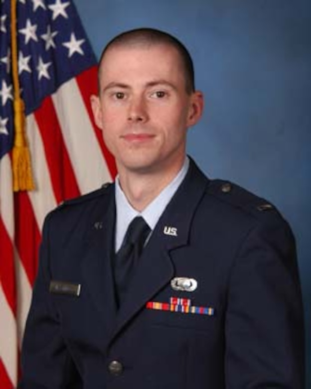 First Lt. Eric W. Hastings is the 2007 Air Force Modeling and Simulation Test and Evaluation Award winner. Hastings also received the Air Force Operational Test and Evaluation Center's Test and Evaluation Individual Award and the AFOTEC Junior Military Outstanding Scientist for the Air Force Outstanding Scientist, Engineer, and Educator Award. He is assigned to Headquarter AFOTEC's Directorate of Intelligence, Analyses and Assessments at Kirtland AFB, N.M.
