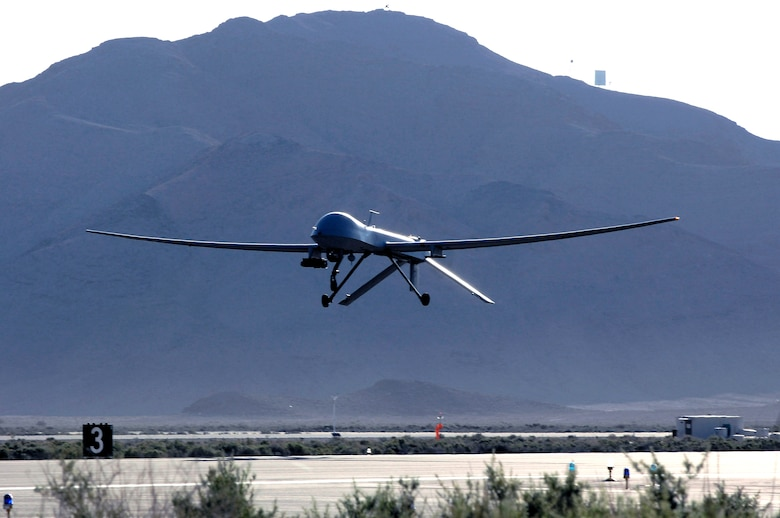 The primary mission of the MQ-1 Predator is interdiction and conducting armed reconnaissance against critical, perishable targets. When the MQ-1 is not actively pursuing its primary mission, it provides reconnaissance, surveillance and target acquisition in support of the Joint Forces commander.  (U.S. Air Force photo/Staff Sgt. Brian Ferguson)
