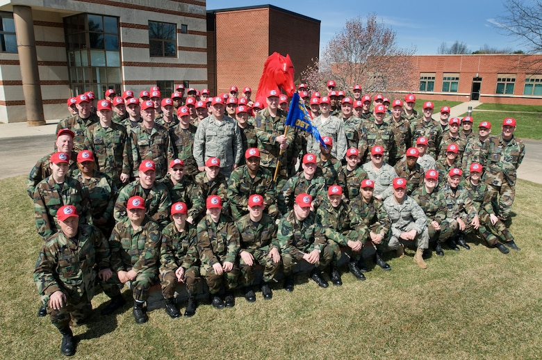 """On April 5, more than 100 guardsmen sported the red caps for the first time and cheerfully yelled """"to the HORSE"""" during the  201st RED HORSE Squadron, Det. 1 activation ceremony at Willow Grove Air Reserve Station, Pa.  RED HORSE stands for Rapid Engineer Deployable Heavy Operational Repair Squadron Engineer. These units are self sufficient, 404-person mobile squadrons that provide major force bed-down, heavy damage repair, and heavy engineering operations in remote, high-threat environments worldwide."""