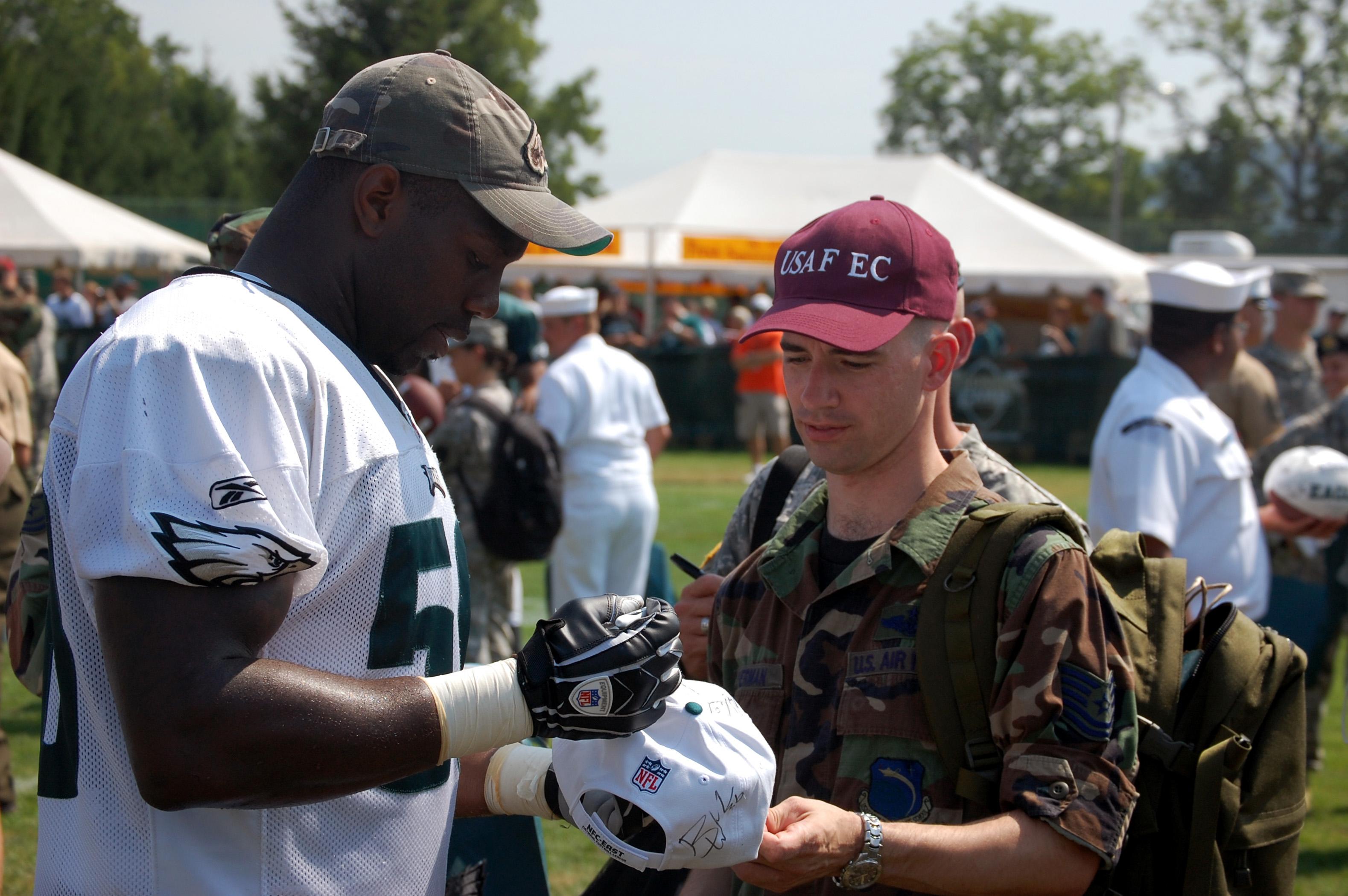 Military Day at Philadelphia Eagles training camp