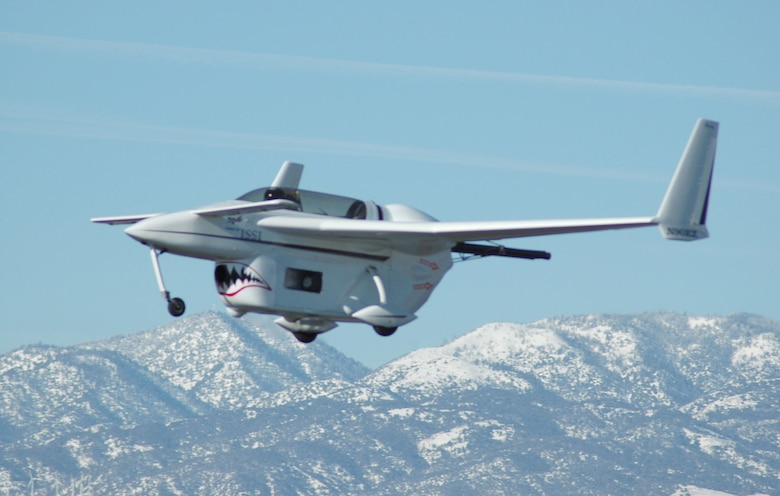 First manned PDE-powered flight, Jan. 31, 2008. (U.S. Air Force photo)