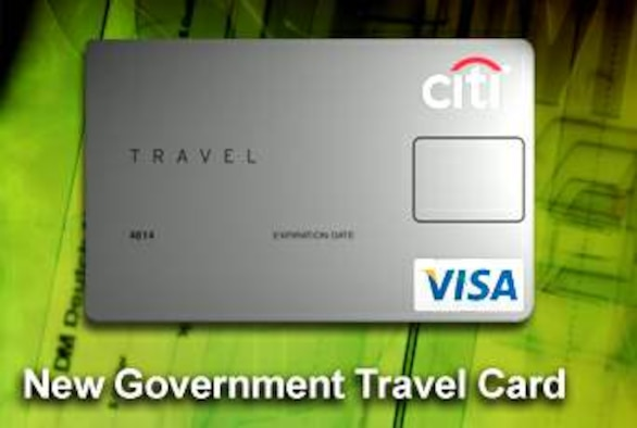 Airmen are being issued the new Citibank government travel card, which will look like this example. Distribution will begin Aug. 13.  (U.S. Air Force illustration)