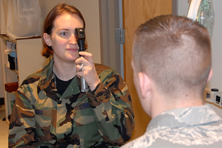 Capt. Tricia Adams, an optometrist in the Kentucky Air National Guard's 123rd Medical Group, has been named 2007 Air National Guard Optometry Officer of the Year. (Tech. Sgt. Dennis Flora/KyANG)