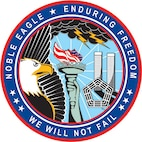 Noble Eagle/Enduring Freedom Parch Design by Chief Master Sergeant (Ret.) Terry Lutz