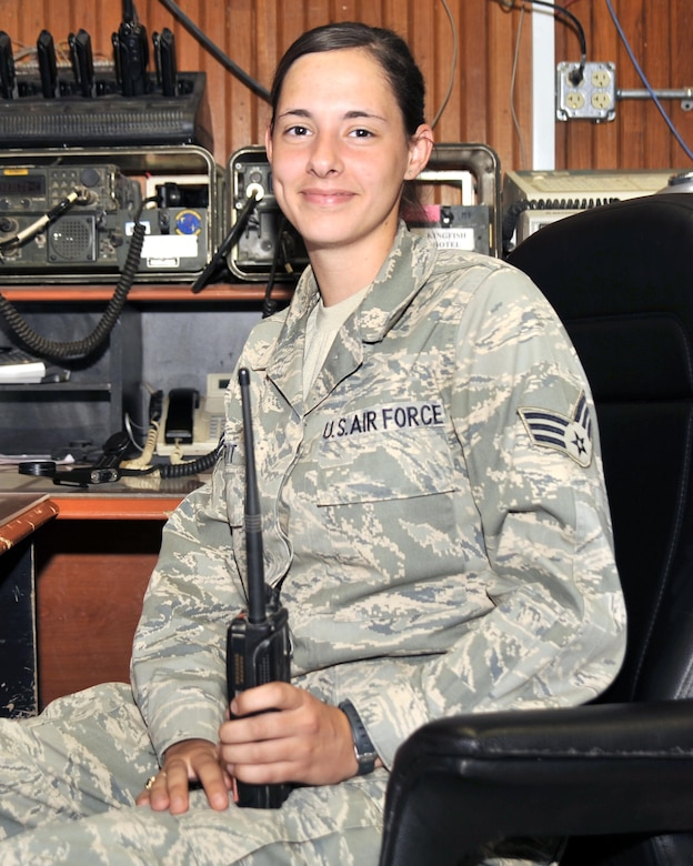 8/11/2008 - SATHER AIR BASE, Iraq - Senior Airman Erin Morit is deployed to the 447th Air Expeditionary Group from the 51st Wing, Offutt Air Force Base, Neb.  (U.S. Air Force Photo by Master Sgt. Brian Davidson)