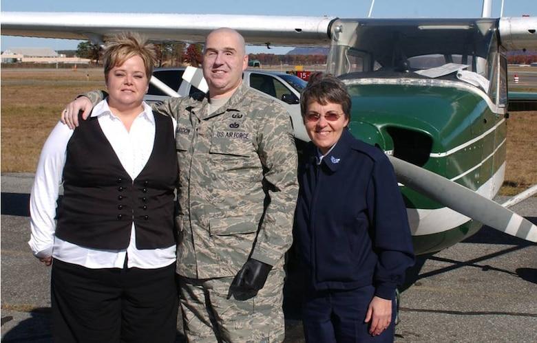 Mrs Annette and Staff Sgt. Matt Slaydon  and Staff Sgt. Frieri