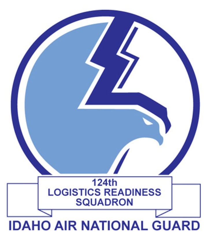 The emblem represents the 124th Logistics Readiness Squadron of the 124th Wing, Idaho Air National Guard.