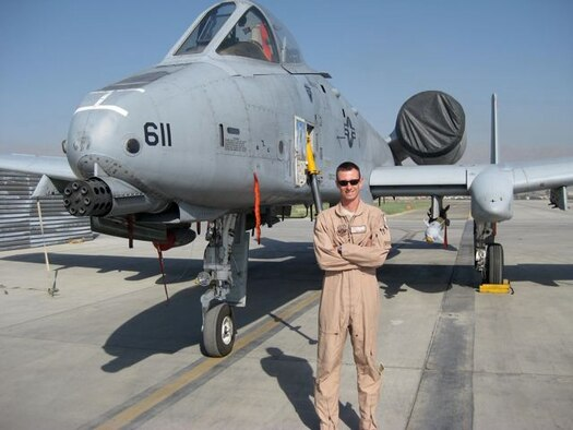 1st Lt. Andrew Labrum, an A-10 pilot from the Air Guards 190th Fighter Squadron based at Gowen Field, will join Olympic Cycling Gold Medalist Kristin Armstrong and other prominent local heroes during a luncheon event for more than 400 area youth.  The afternoon event is part of a full day of festivities leading up to the Roadys Humanitarian Bowl. (Air Force photo)