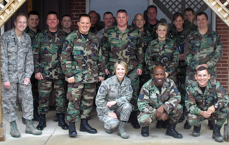 """The 131st Fighter Wing """"Wing Team"""" visits the Airmen at Detachment 1 Cannon Range late October.  The """"Wing Team"""" went to Det 1 to learn about the Cannon Range mission and help with any issues at hand."""