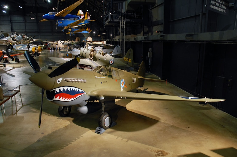 curtiss p 40e warhawk national museum of the us air force display. Black Bedroom Furniture Sets. Home Design Ideas